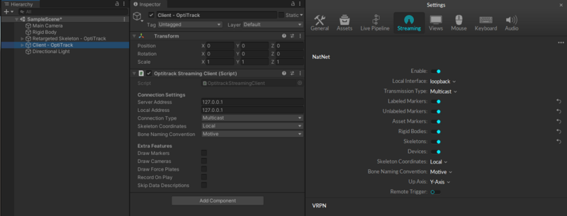 OptiTrack Unity Plugin - NaturalPoint Product Documentation Ver 2 1